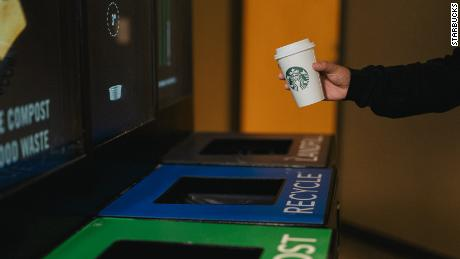 The new liner should make it easier to recycle Starbucks cups.