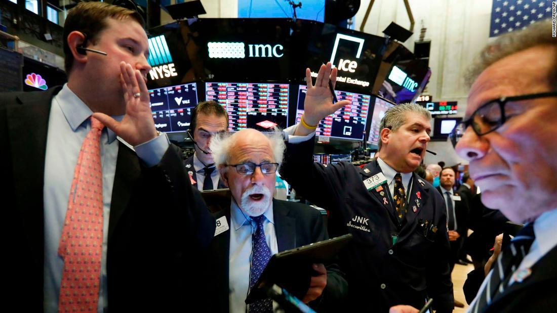 "Traders work on the floor of the New York Stock Exchange on March 9. <a href=""https://www.cnn.com/2020/03/08/investing/stock-dow-futures-coronavirus/index.html"" target=""_blank"">Stocks plummeted</a> as coronavirus worries and an oil price race to the bottom weighed on global financial markets."
