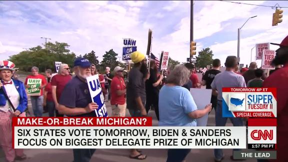 Image for What to watch as Biden and Sanders face off in six states on Tuesday