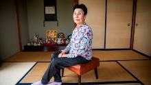 Hideko Hakamada sits in her home in Hamamatsu, Shizuoka, Japan on Monday Dec. 2, 2019. Hakamada worked for years fo are her brother Iwao prisons.