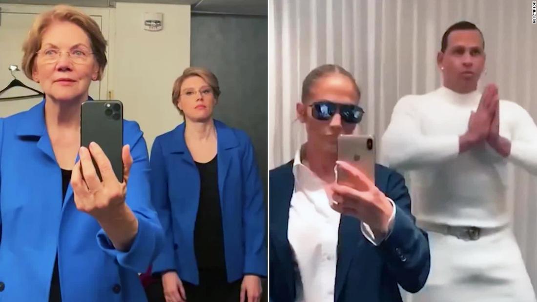 Elizabeth Warren ist die virale moment bekommt man-upped von Jennifer Lopez