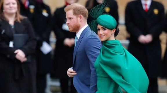 Harry and Meghan attend the annual Commonwealth Day service at London's Westminster Abbey in March 2020. This marked the couple's final engagement as senior members of the royal family.