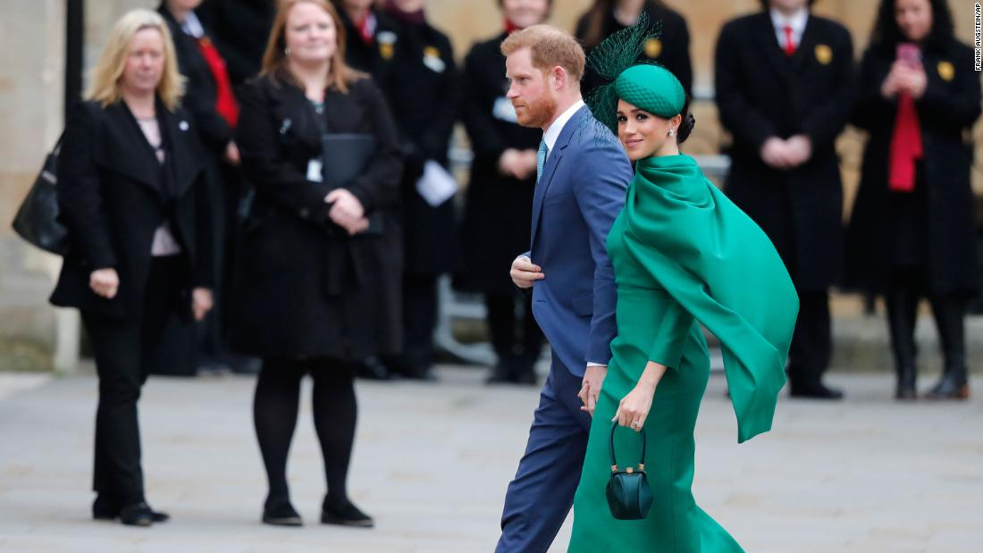 "Britain's Prince Harry and Meghan, Duchess of Sussex, attend the annual Commonwealth Day service at London's Westminster Abbey on March 9. This marked the couple's <a href=""https://www.cnn.com/2020/03/09/uk/harry-and-meghan-final-engagement-intl-scli-gbr/index.html"" target=""_blank"">final engagement as senior members of the royal family.</a>"