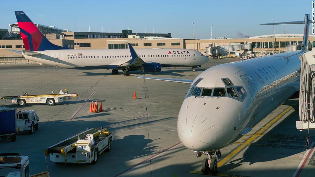 Delta und American slash USA und in übersee-Flüge