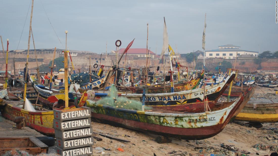 Russia has shown increasing interest in Africa, including in Accra, Ghana, where these fishing boats sit.