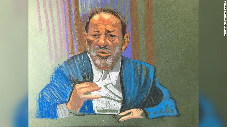 Harvey Weinstein spoke for about 20 minutes at his sentencing hearing on March 11.