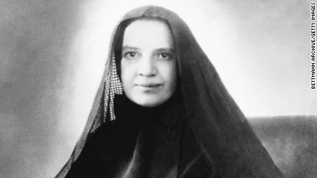 Mother Frances Xavier Cabrini (1850-1917) founded schools, orphanages, and hospitals throughout the United States and South America, and became the first American saint, canonized in 1946.