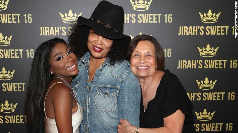 Josie Harris, middle, poses with Jirah Mayweather and Elsie Harris in 2019.