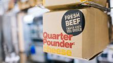 McDonald's began serving Quarter Pounders made with fresh beef in its US stores in May 2018. (Taylor Glascock for CNN)