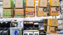 Cardboard sandwich containers in the McDonald's test restaurant at their global headquarters. (Taylor Glascock for CNN)