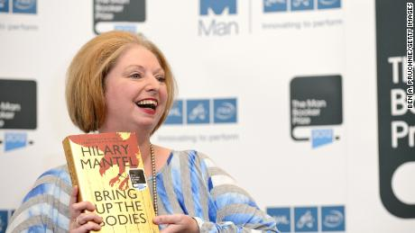 Hilary Mantel wins the Man Booker Prize with her book 'Bring Up The Bodies' at The Guildhall on October 16, 2012 in London, England.