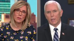 CNN reporter to Pence: Why are number of tests going down?