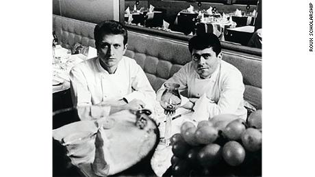 Michel pictured with his brother Albert