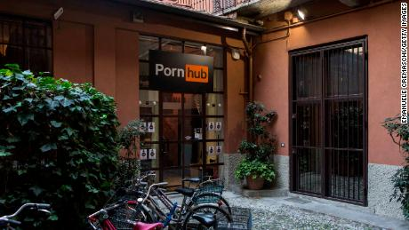 Pornhub's pop-up store in Milan in December 2017