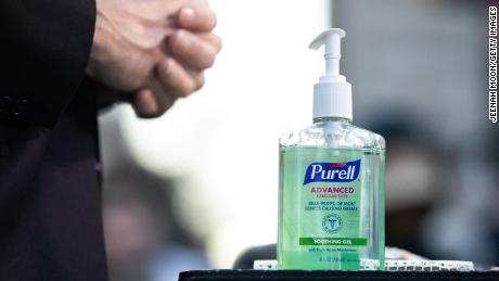 Hand sanitizer sales have been spiking.