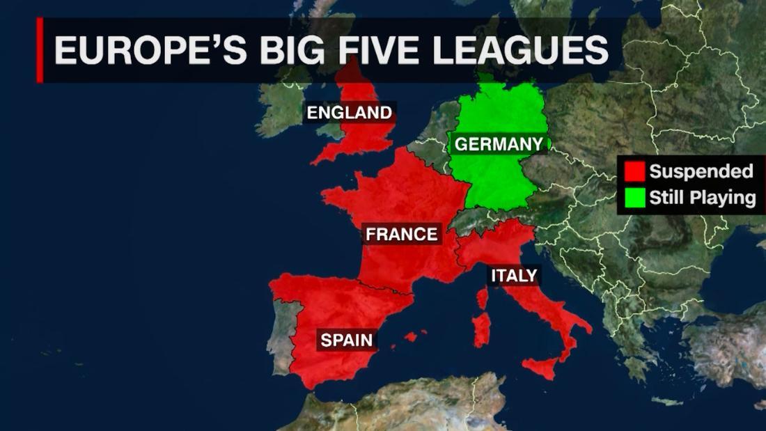 English Premier League suspended until at least April 3