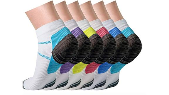 Charmking Compression Socks, 6 Pairs