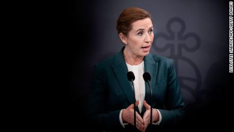 Denmark's Prime Minister Mette Frederiksen gives a press statement to comment on the situation concerning the spread of the novel coronavirus, in the Prime Ministry in Copenhagen, on March 10, 2020. - Denmark so far has registered 156 persons potisiv with the COVID-19 disease.