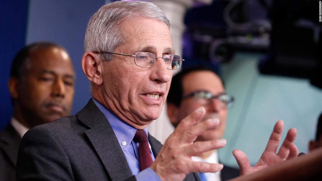 Fauci You dont make the timeline the virus makes the timeline on relaxing public health measures