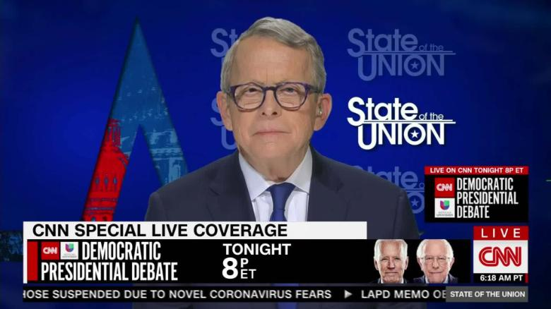 Mike Dewine Ohio Governor Remains Collected And Directed In The Face Of The Coronavirus Pandemic Cnnpolitics