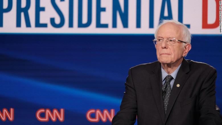 Sanders participate in the Democratic debate in Washington, on Sunday, March 15.