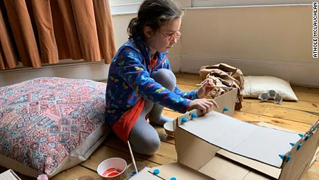 Athole McLauchlan said he encouraged his children to do as many low-tech activites as possible.