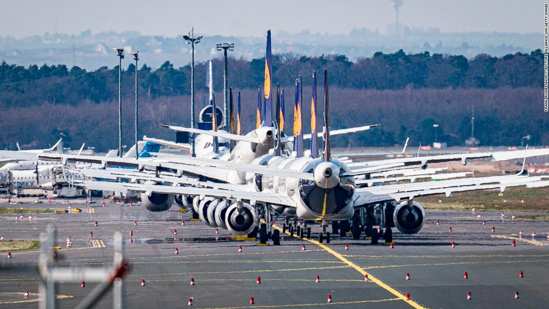 Parking in a pandemic: Grounded planes scramble for storage space
