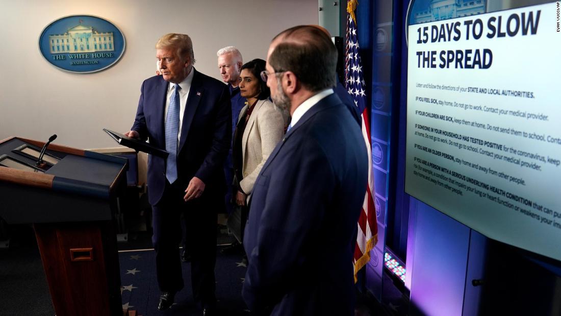 Trump Verwaltung Vorsorgeplanung für coronavirus anhaltenden