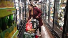 NEW YORK, NY - MARCH 13: A woman shops at a grocery store on March 13, 2020 in New York City. President Donald Trump is expected to declare national emergency over coronavirus crisis today. There are at least 95 confirmed cases in New York City.  (Photo by Jeenah Moon/Getty Images)