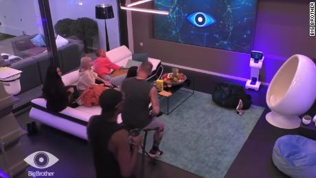 "Contestants on the German ""Big Brother"" set."