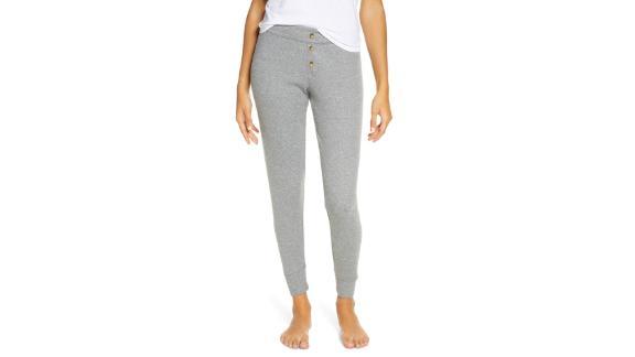 PJ Salvage Peachy Ribbed Lounge Pants