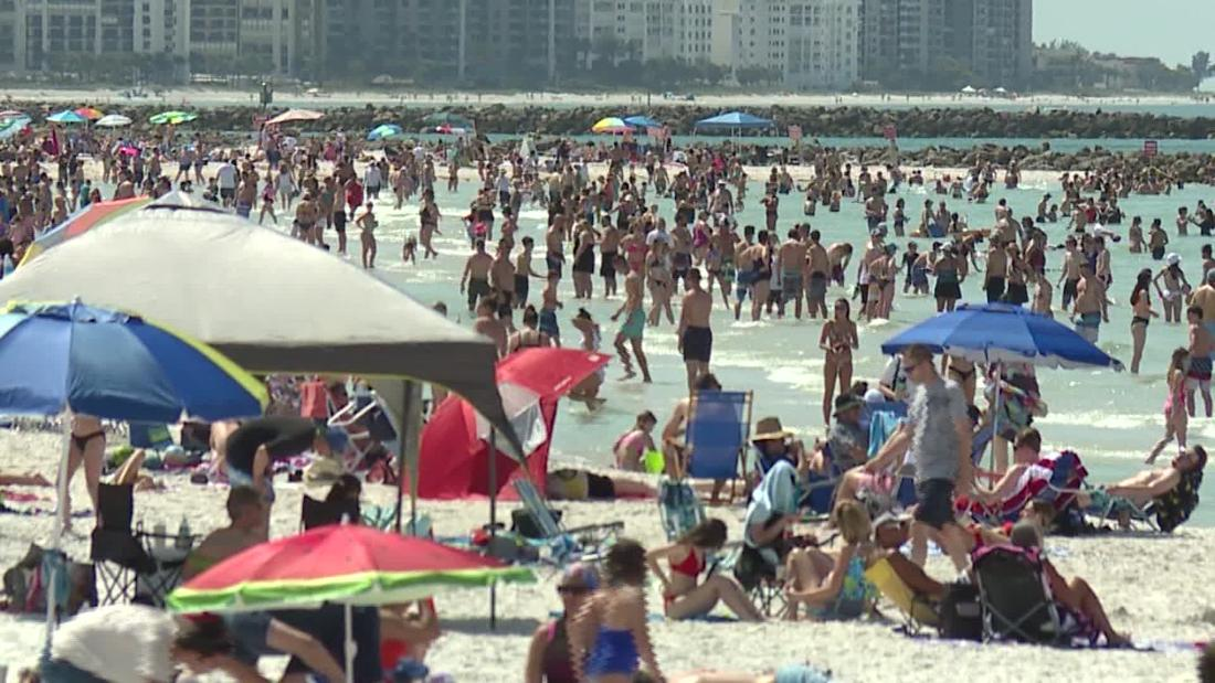 Spring break could be a perfect storm for spreading coronavirus variants. Don