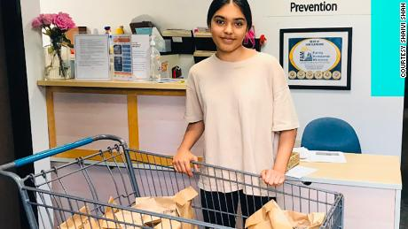 Fifteen-year-old Shaivi Shah donated more than 150 hygiene kits to the homeless.