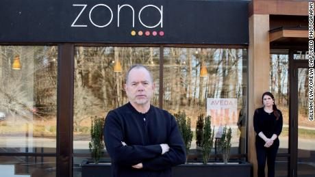 Frank Zona made the difficult decision to temporarily close his three hair salons in the Boston area.