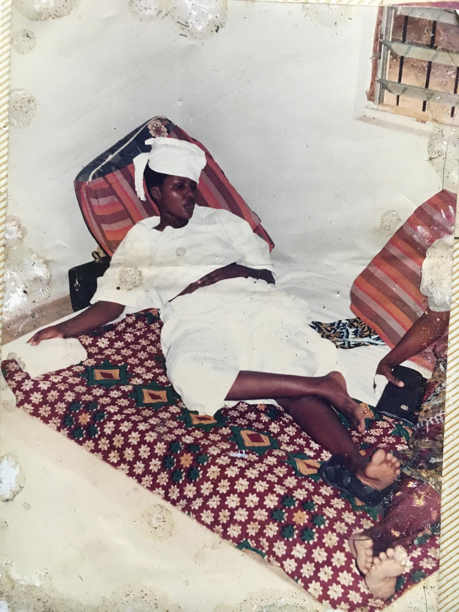 Hope Nwakwesi during her widowhood rites in 1994