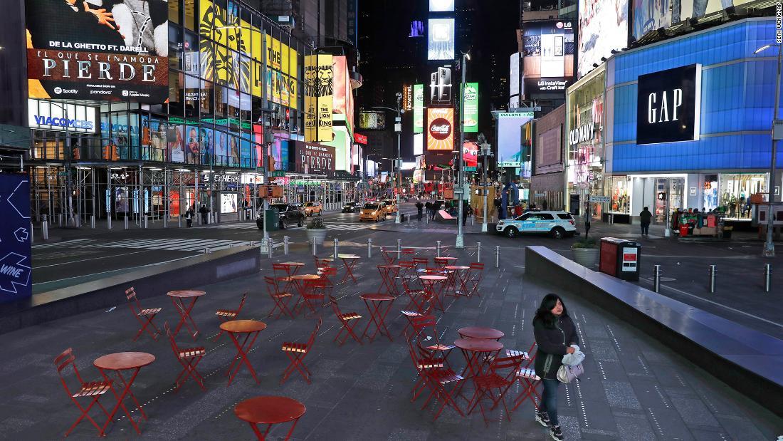 Dies ist, was es sieht aus wie in New York City während der Corona-Virus-Ausbruch