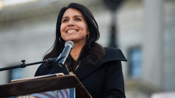 Gabbard attends a Martin Luther King Jr. rally in Columbia, South Carolina, in January 2020.