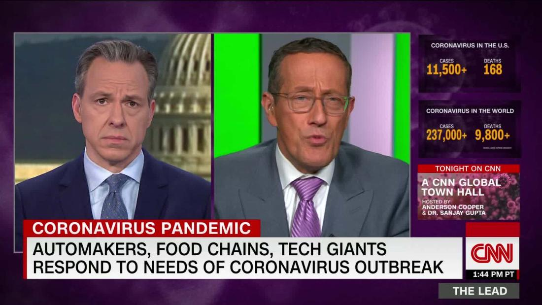 Automakers, food chains, tech giants respond to needs of coronavirus outbreak