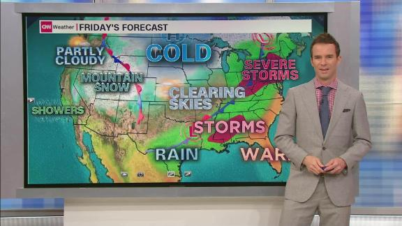 Image for A battle between warm and cold air continues across the nation on the first full day of spring