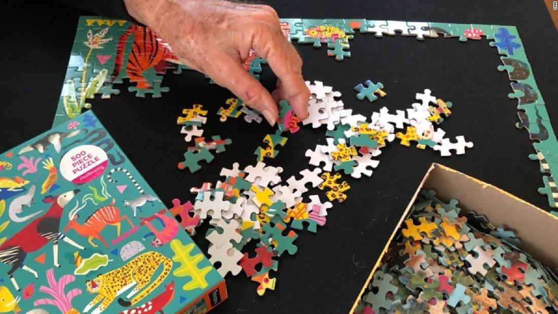 People are curbing their stay-at-home anxiety the analog way: With puzzles