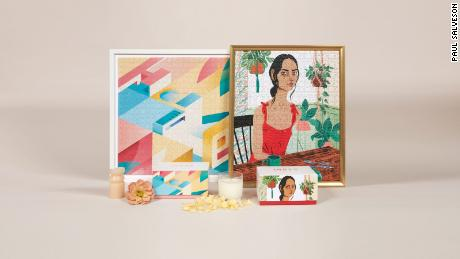 Newer puzzle companies, like Inner Piece, feature bespoke, modern art to appeal to fashionable consumers.
