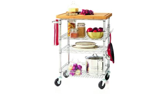 HSS 4 Tier Kitchen Cart with Bamboo Top