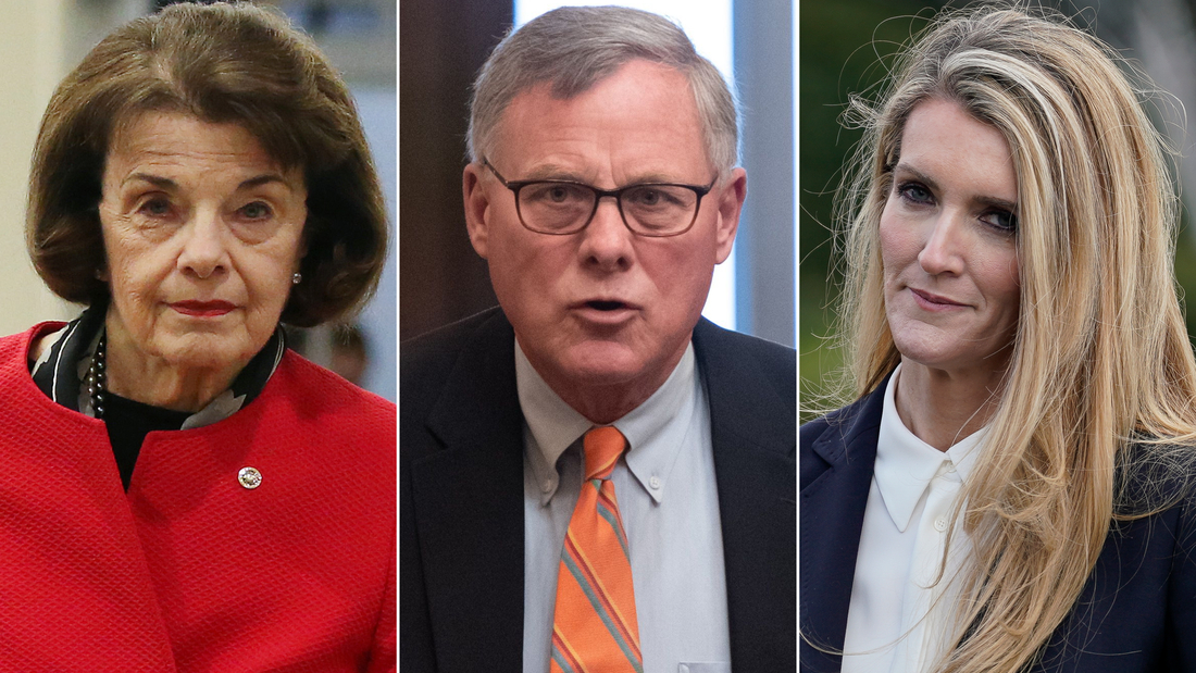 From left, Sens. Dianne Feinstein of California, Richard Burr of North Carolina and Kelly Loeffler of Georgia have all faced questions over stocks that were sold since the spread of the coronavirus.