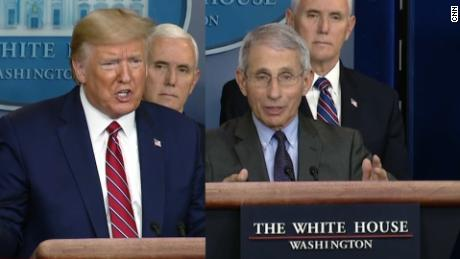 Fauci says 'there isn't, fundamentally, a difference' between his view and Trump's on coronavirus