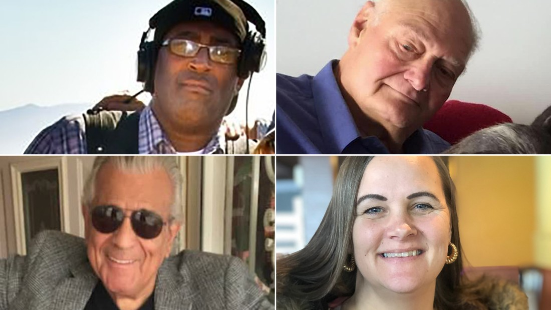 From top left, moving clockwise: Larry Edgeworth, Richard Curren, Sandee Rutter and John Knox. All of them are among those who lost their lives to coronavirus in the US.