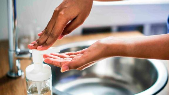 Washing hands with soap and water is the first line of defense against the spread of germs