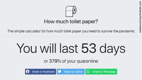 Howmuchtoiletpaper.com calculates just how long your stash of TP will last you during a quarantine.