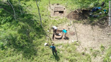 Archaeologists work to excavate the capital of the Sak Tz'i' kingdom on a cattle ranch in Mexico.