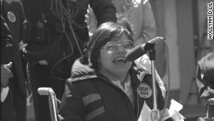 Judy Heumann speaks out for disability rights.