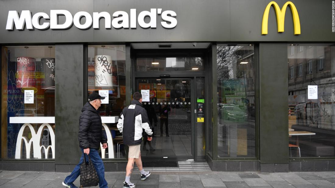 McDonald's and Nando's close UK restaurants, takeout shut too - CNN